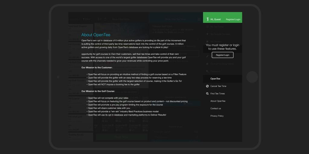 OpenTee iPad iOS app - Content - Marco Sebastian - Freelance Web ...
