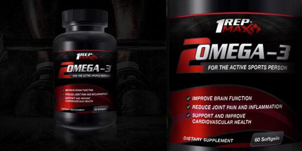 Omega-3 Label displayed on rendered bottle