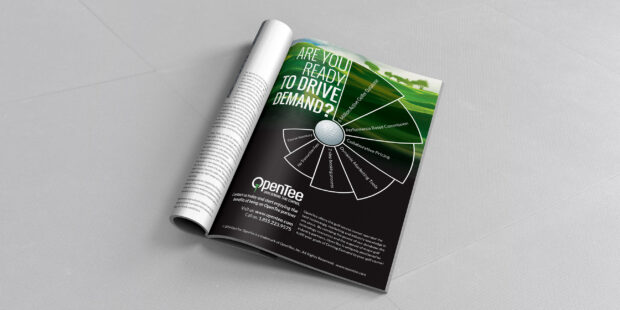 OpenTee Ad for a Golf Magazine