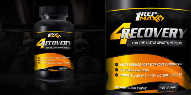 Recovery Label displayed on rendered bottle
