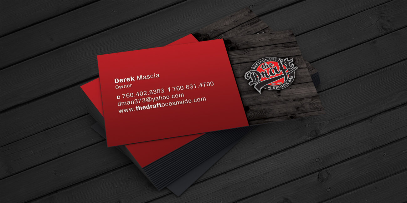 The draft business cards marco sebastian freelance web business cards designed for the draft restaurant and sports bar magicingreecefo Image collections