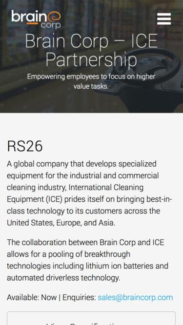 Brain Corp Website Design Marco Sebastian Freelance Web